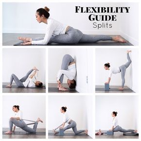 """How To Practice Yoga on Instagram: """"Beginners guide to splits flexibility by @jl.yoga 😍 swipe left to watch her video on it! #yogatutorial #splits #yoga"""""""