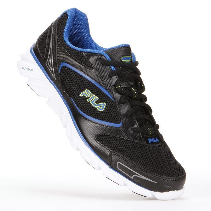 Fila Mens Running Shoes lace up mesh upper ancerus 5 black