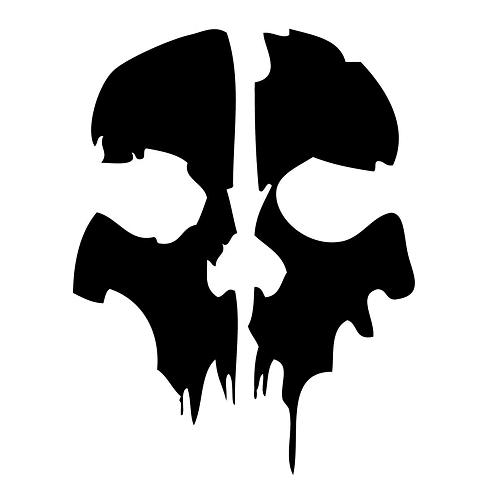 Call Of Duty Ghosts Laptop Car Truck Vinyl Decal Window Sticker Pv455 Arte De Silueta Tatuajes De Terror Calaveras Dibujos