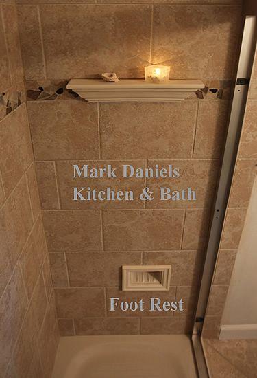 Shower Foot Rest Shave Legs Tile Shower Niche Diy Bathroom