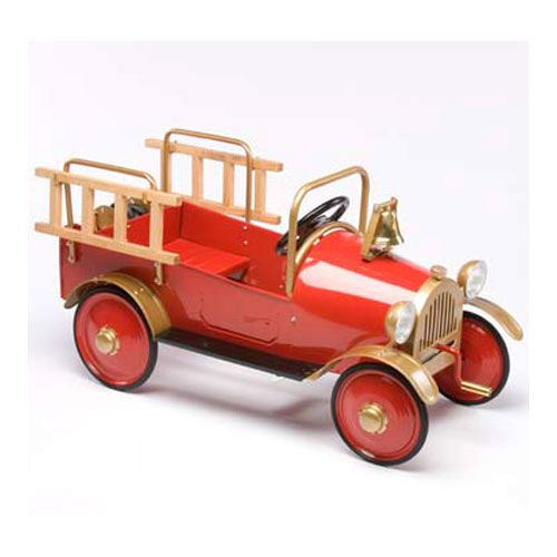 Vintage Fire Engine Pedal Car : Holiday Gifts And Toys at PoshTots