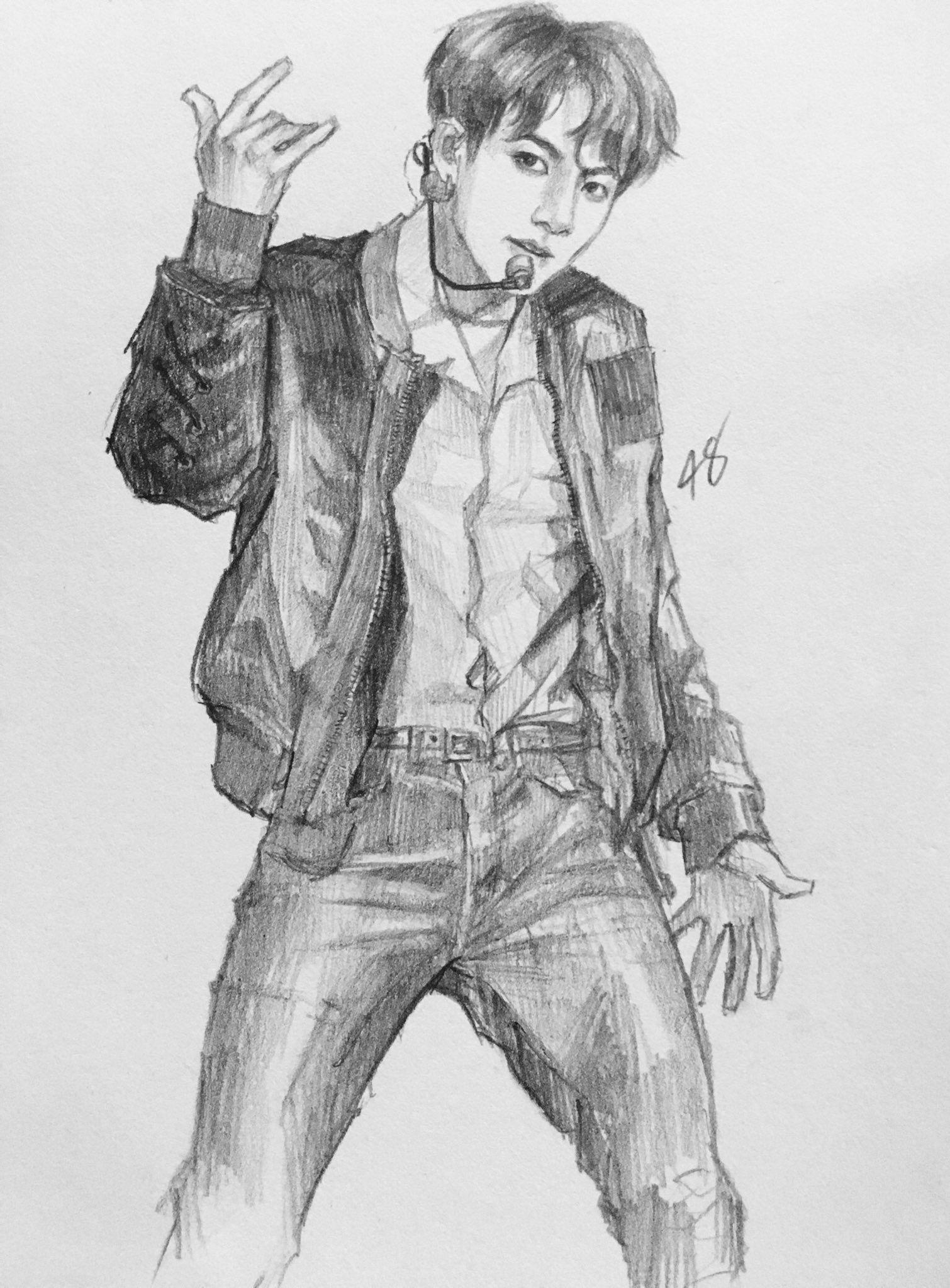 ゚suqaplum Bts drawings, Kpop drawings, Bts fanart