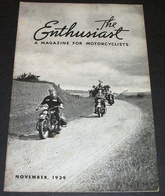 November 1939  Harley Davidson Enthusiast Magazine