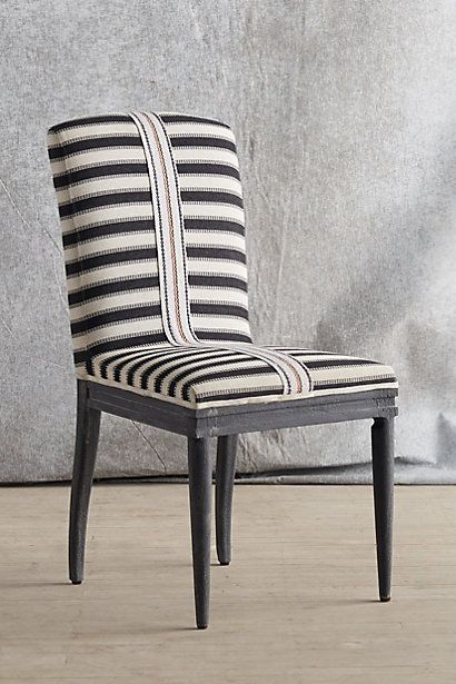 Stripe Black And White Dining Chair