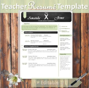 Pencil \ Apple Theme Resume Template Teacher, Apple theme and - pay for resume
