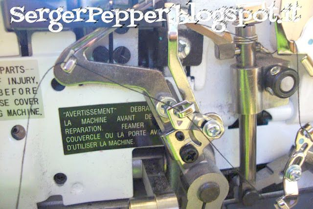 Threading a Serger (Made simple) - Tutorial infilatura in 3 semplici passi - Necchi 181 - Serger Pepper