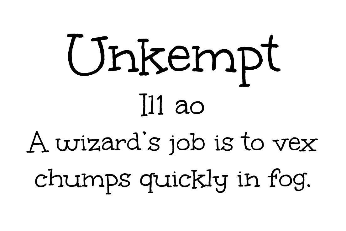 Free google font  Unkempt by Sideshow  typeface, handwritten
