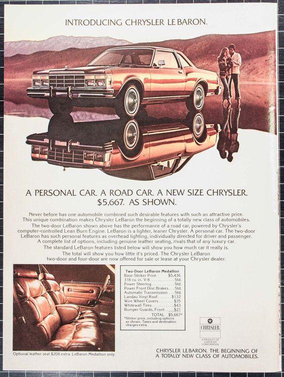 1977 Chrysler Le Baron Ad Mt77 5 Etsy Chrysler Ford Classic Cars Chrysler Lebaron