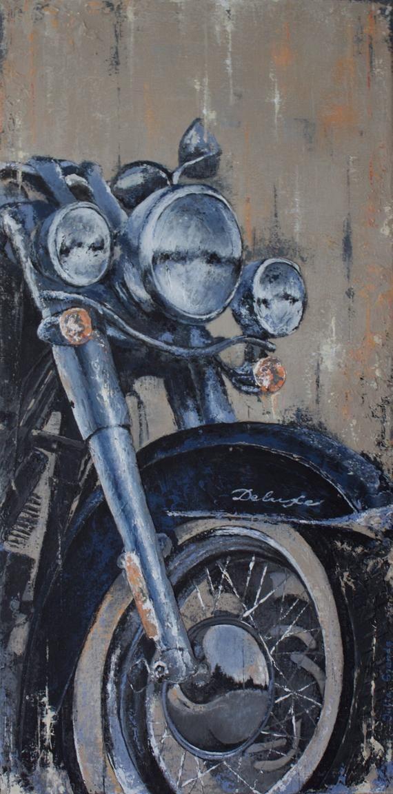 Harley Davidson Softail deluxe trois dimension acrylique grand mur vélo de moto intérieur décor Original grand Art 50 x 100 cm