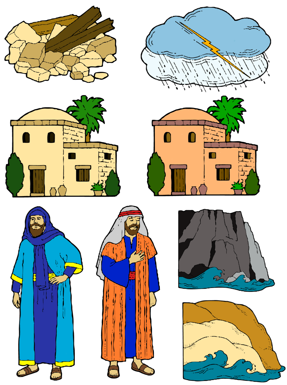 Wise man built his house upon the rock sermon - Wise Man And Foolish Man Story Figures