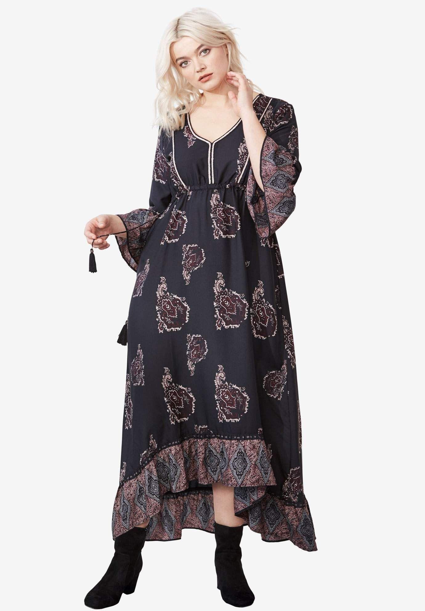 231df325f8 Flora A-Line Maxi Dress by ellos® | Fashions | Plus size maxi ...