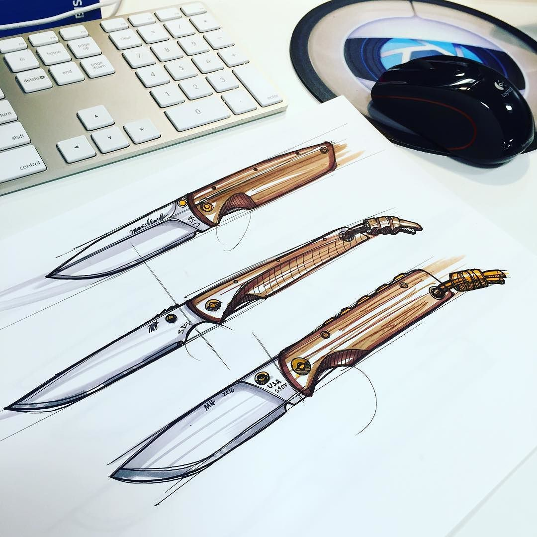 knife drawing designs - 736×736