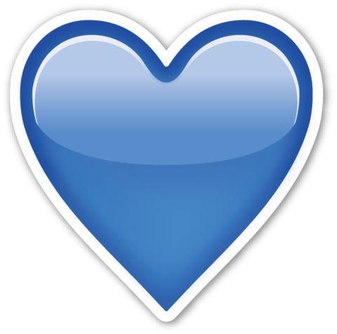 D16844811ca23f2d607c68a05df5df6d Jpg 480 475 Heart Emoji Blue