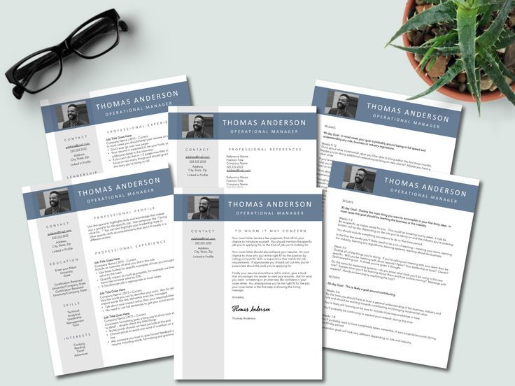 Photo Interview Template Bundle resume with optional page