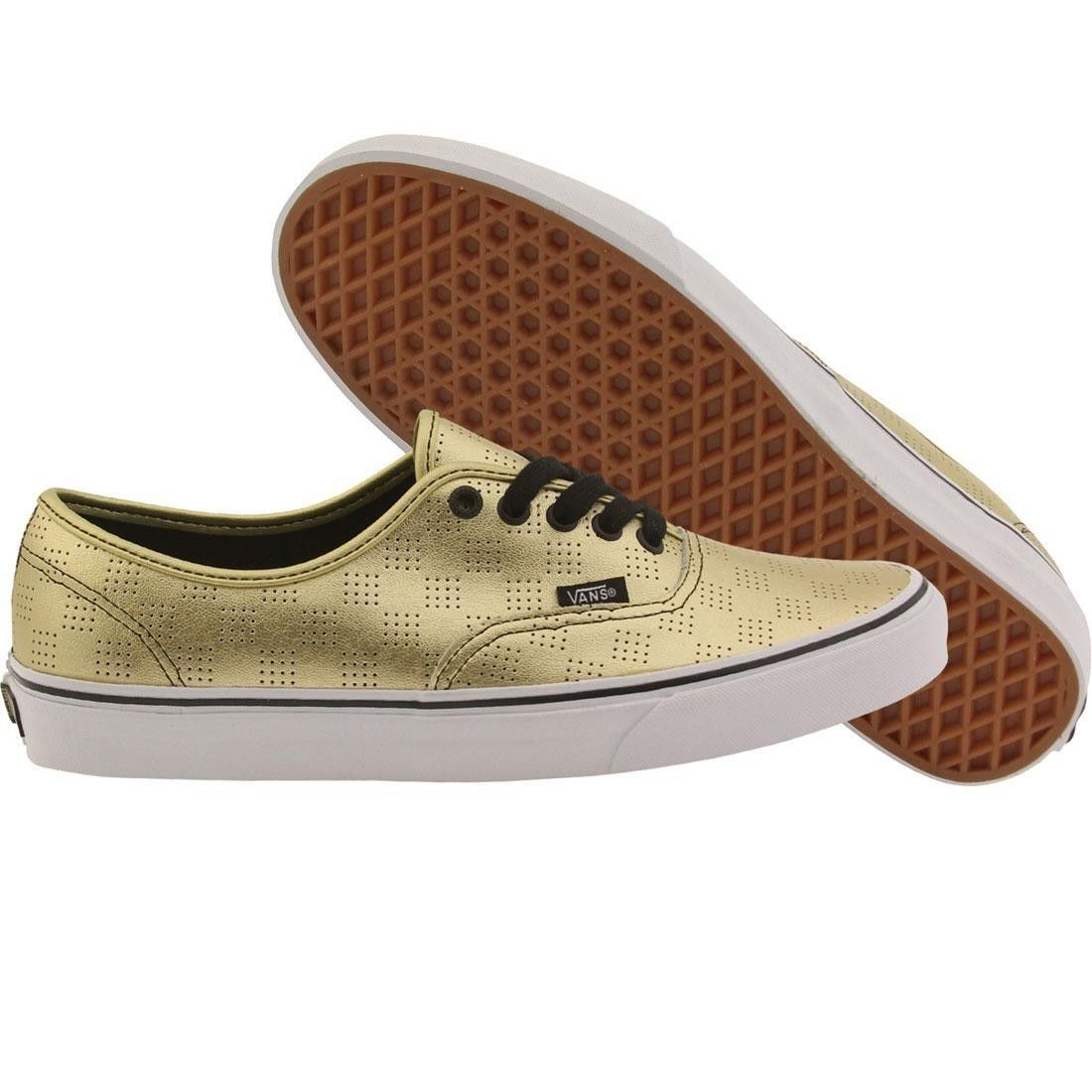 Stylish Mens Casual Shoes Vans Authentic 50th Gold Checker