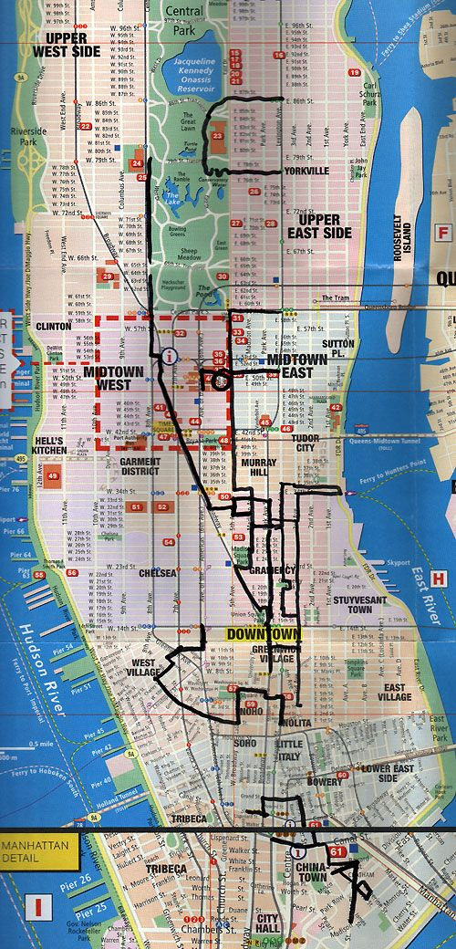 printable shopping map of new york city Week of Walking NYC