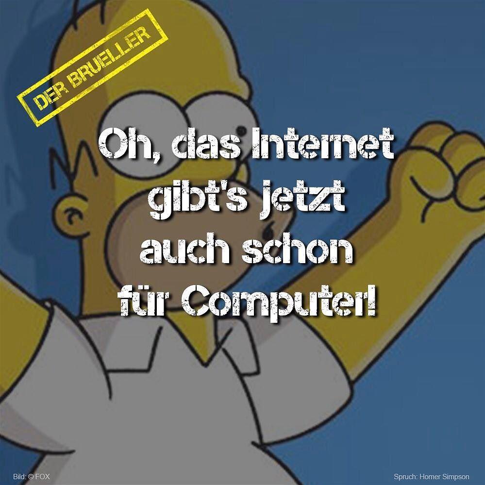 Homer #Simpson #Inter#Computer #PC #brüller #spruch #sprüche