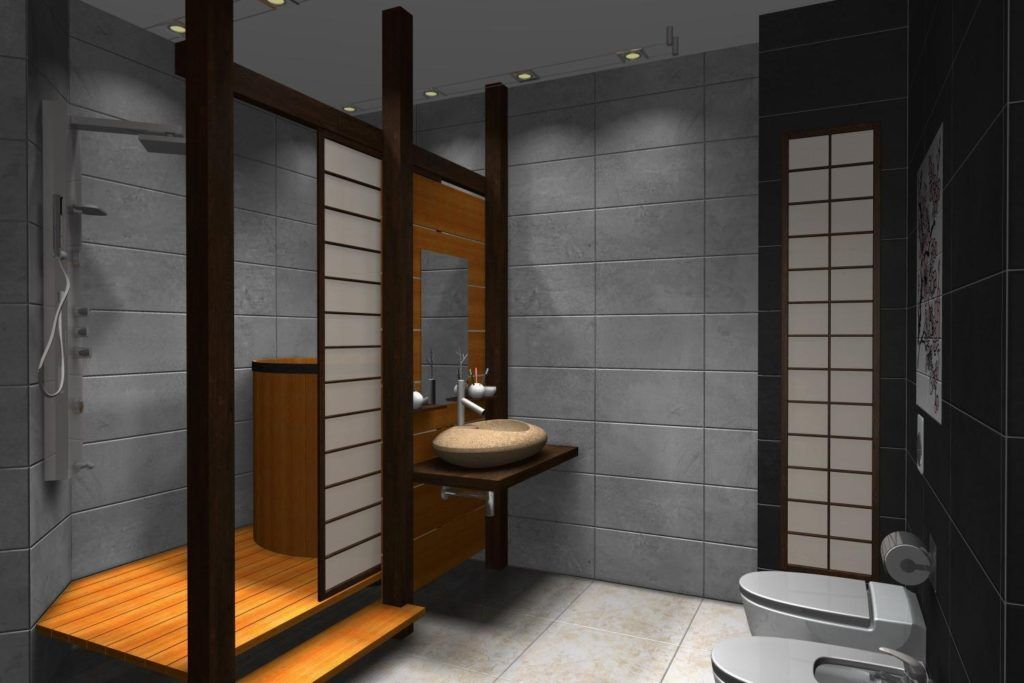 Japanese Themed Bathroom Accessories Japanese Bathroom Design