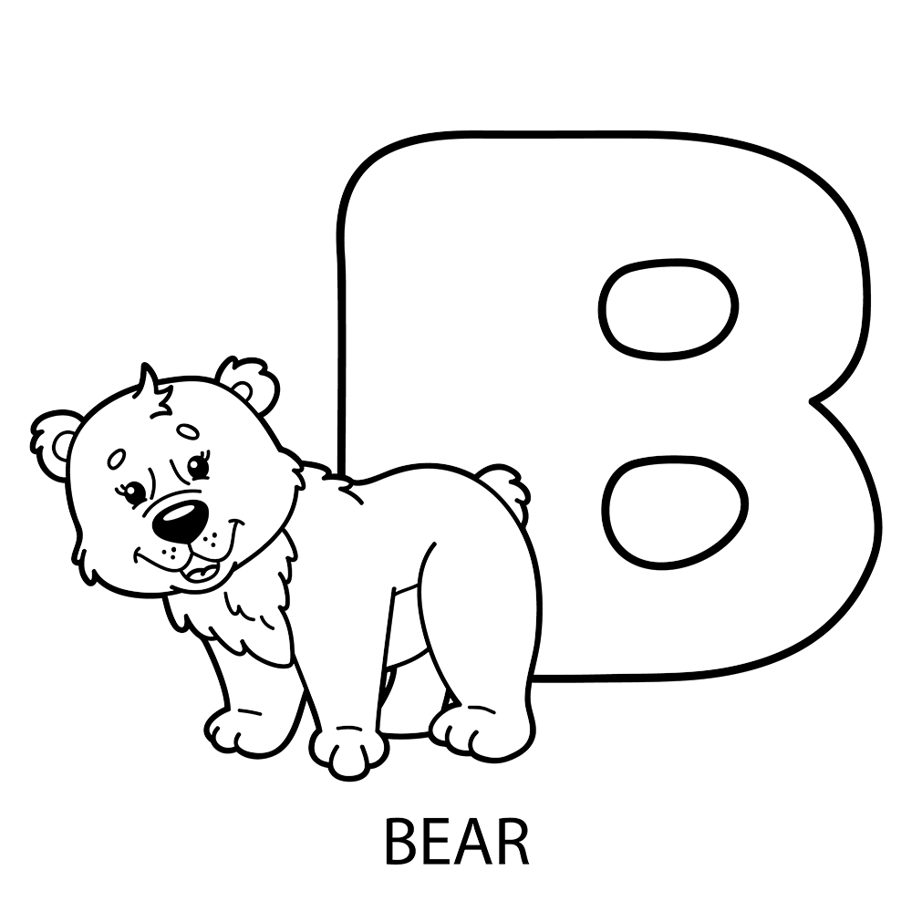 b is for bear coloring page | Coloring Pages | Pinterest