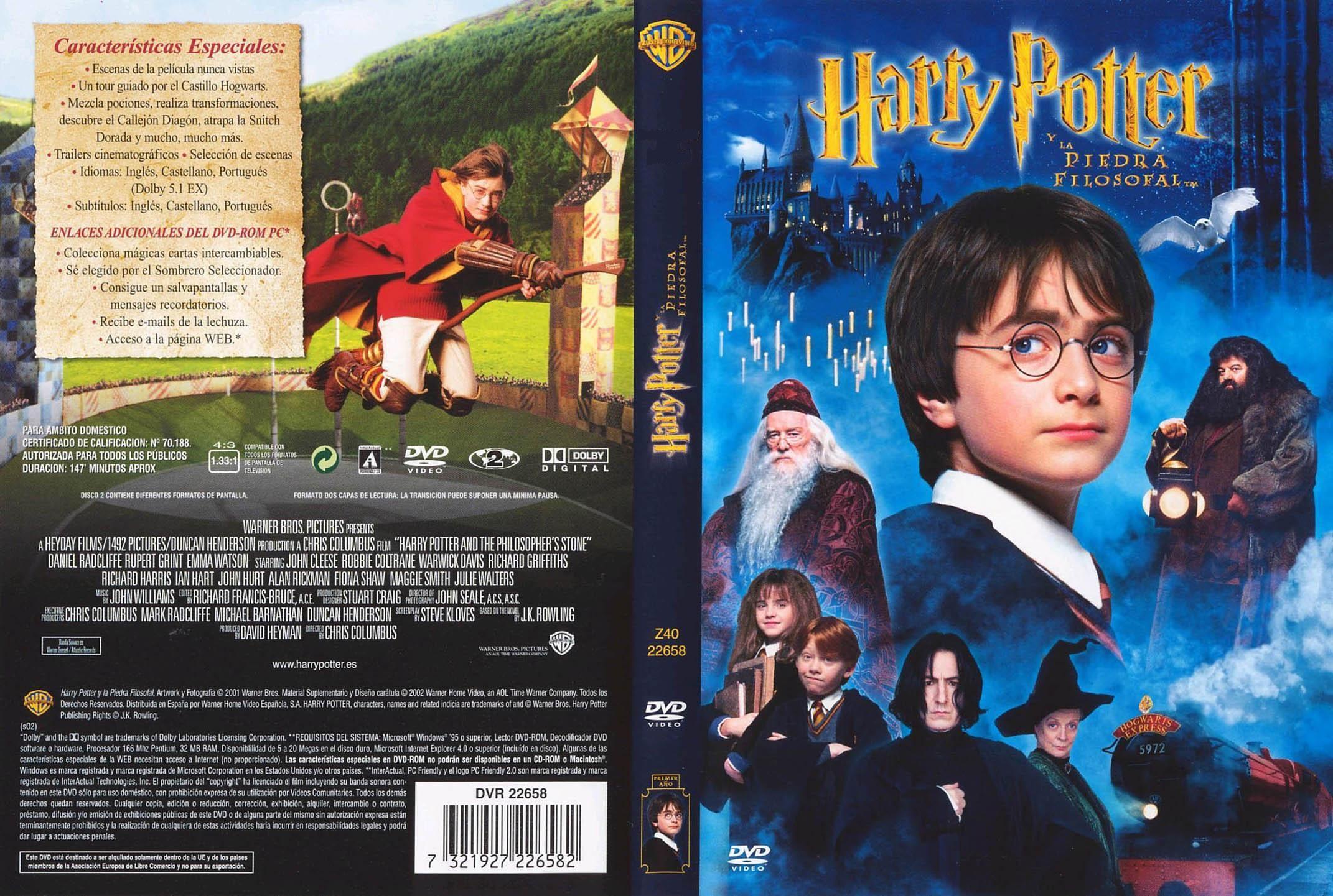 Harry Potter Y La Piedra Filosofal Pelicula Dvd Cover Harry Potter Harry Potter Book Covers Dvd Covers