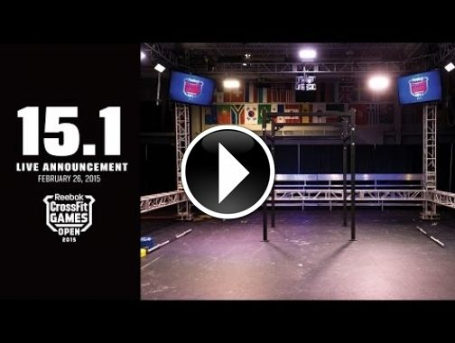 Live Announcement Of Open Workout 15 1 Crossfit Games Open Reebok Crossfit Games Crossfit Open