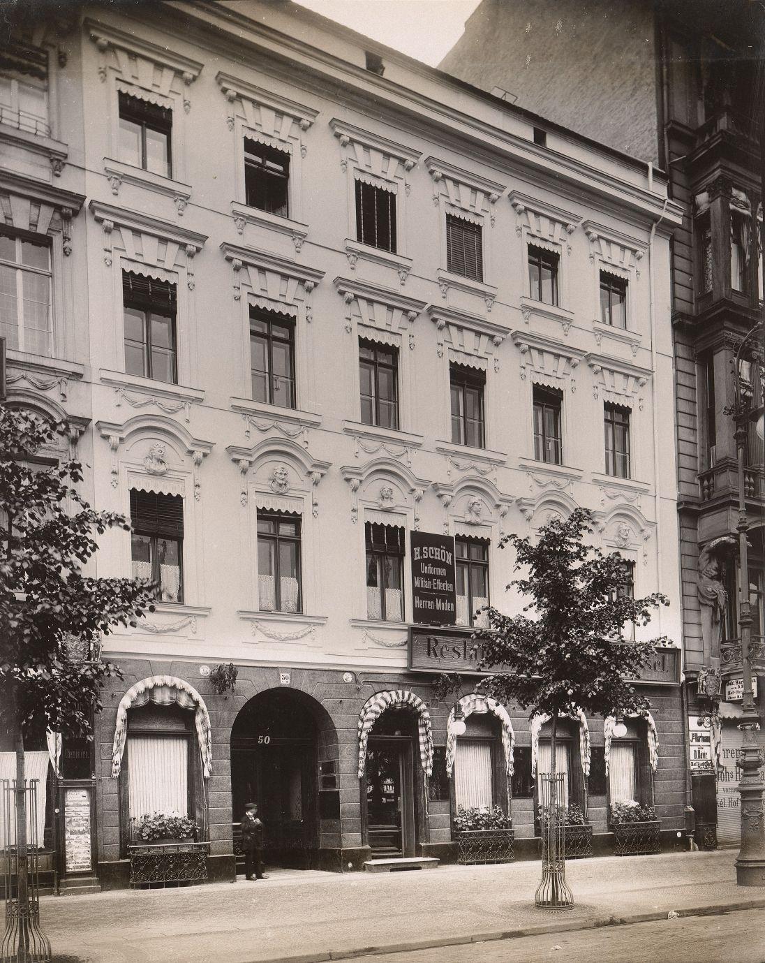 georg christian unger 1743 1799 wohnhaus unter den linden 50 berlin mitte aus julius kohte. Black Bedroom Furniture Sets. Home Design Ideas