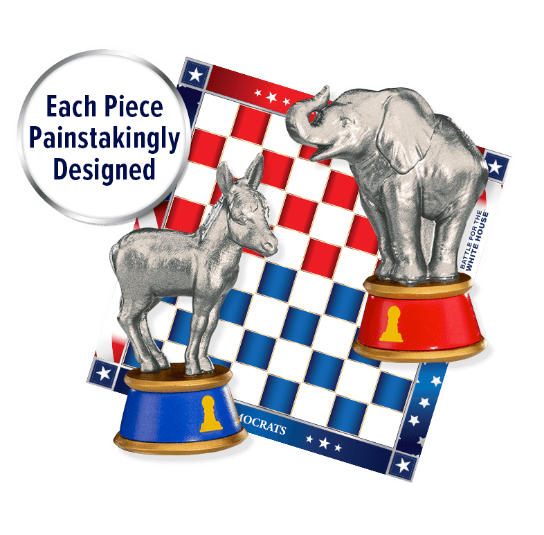 2020 Battle for the White House Commerative Chess Set