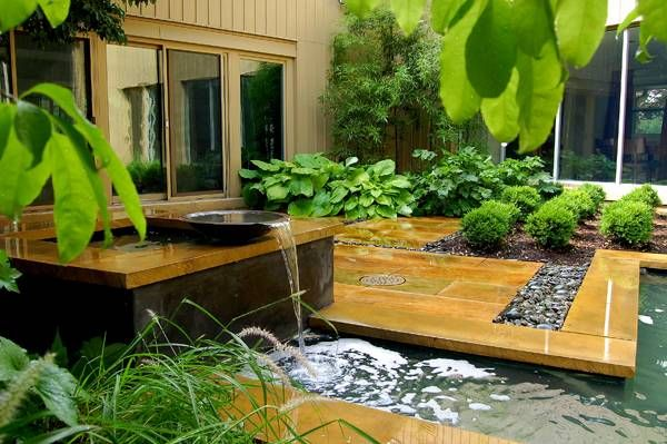 This Is A Small Private Garden Located Within Sterling Residence Which Was Designed By Fernhil Water Features In The Garden Landscape Design Modern Landscaping