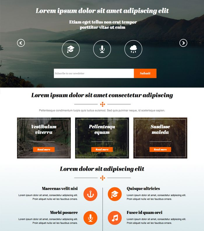 Flat Muse Website Template | Adobe Muse Free Themes | Pinterest ...