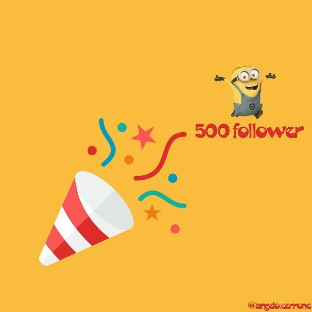 500 follower. I'm so happy. Thanks all!!. #follower #me #yellow #felicità #creativity #creative #creatività #happy #seguitemi #follow4follow #followback #followforfollow #followme #grazie #continuatecosì #avantitutta