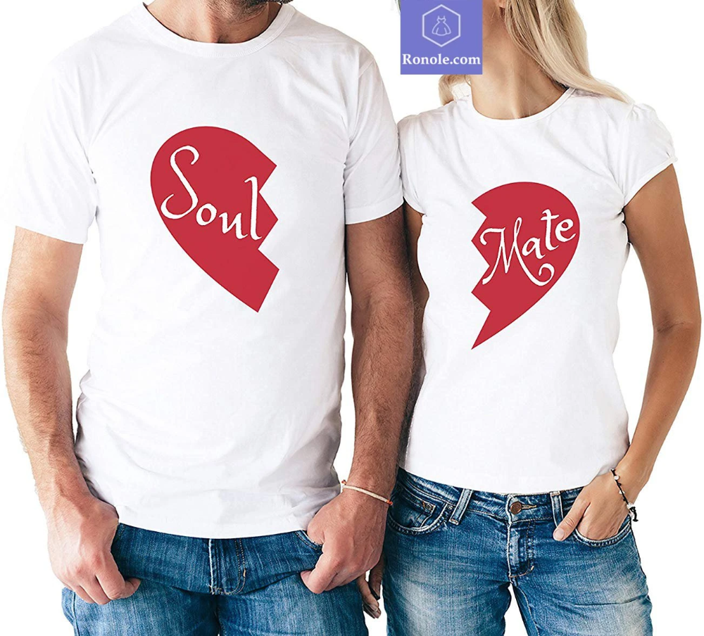 Soul Mate Couple Valentine S Day T Shirt Lovely Matching Couple T Shir Valentine Shirts Vinyl Valentine T Shirts Couple T Shirt