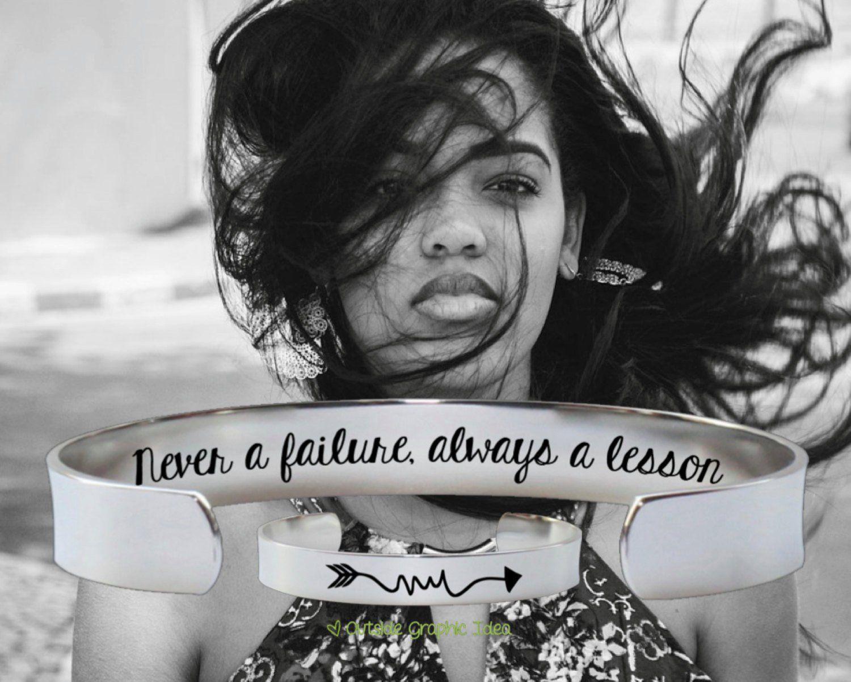 Never a Failure Always a Lesson Bracelet
