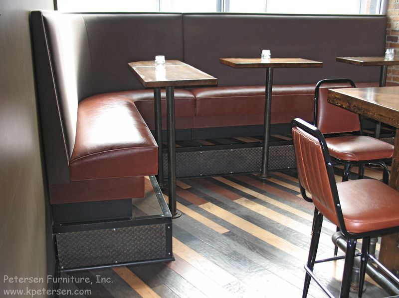 Dining Booths For Home Click To See Another Restaurant Booth Installation Photo Note Booth Booth Seating Banquette Seating Restaurant Seating