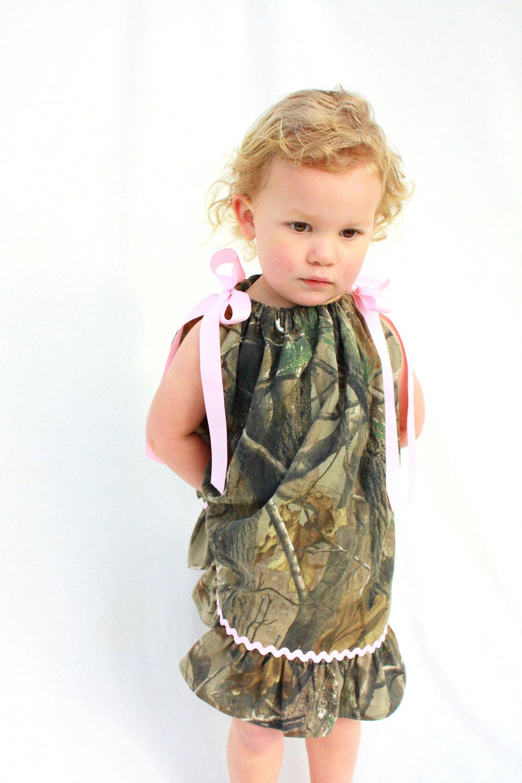 baby girl camo pillowcase dress Realtree Camo and pink sizes Camo ...