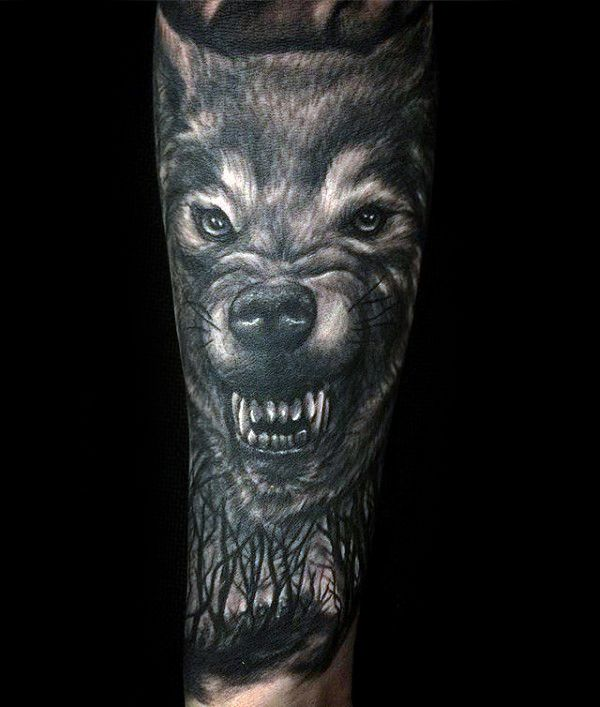 60 Sick Wolf Tattoo Designs For Men: 100 Forest Tattoo Designs For Men