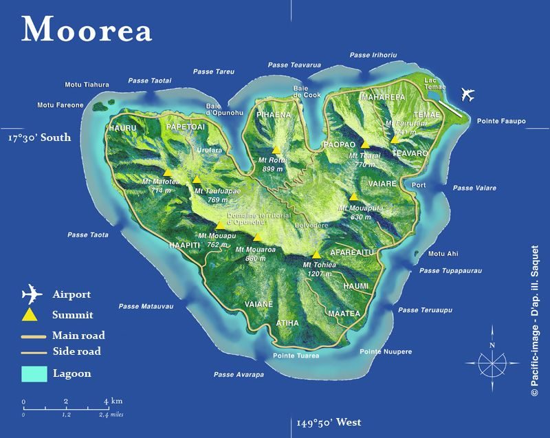moorea map - Google Search in 2019 | Moorea tahiti, Tahiti ...