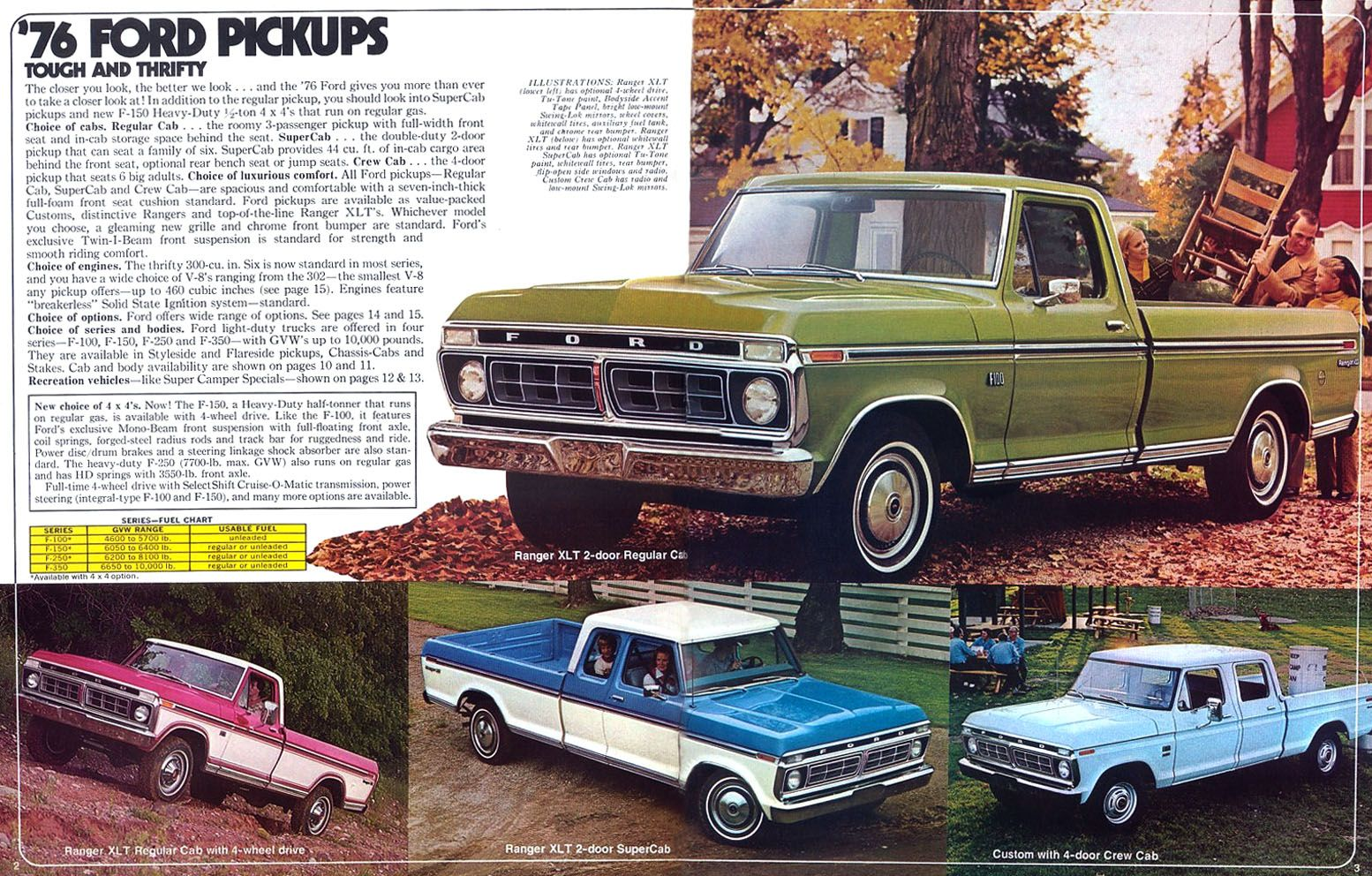 Ford truck sales literature, 1976. | Classic workhorses | Pinterest ...