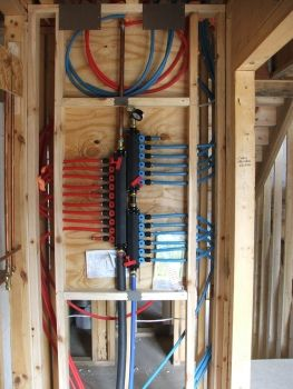 pex water line systems are used though out the house the system rh pinterest com Cob House Construction Cob House Construction
