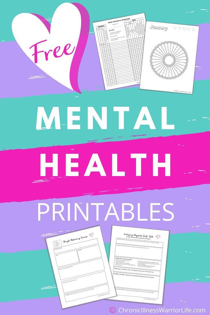 FREE Printable Mental Health Worksheets - Chronic Illness Warrior Life