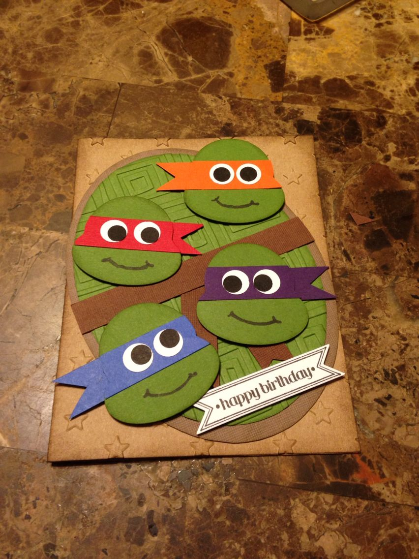 Fun Ninja Turtles Card! Cards By Rose Kids Birthday