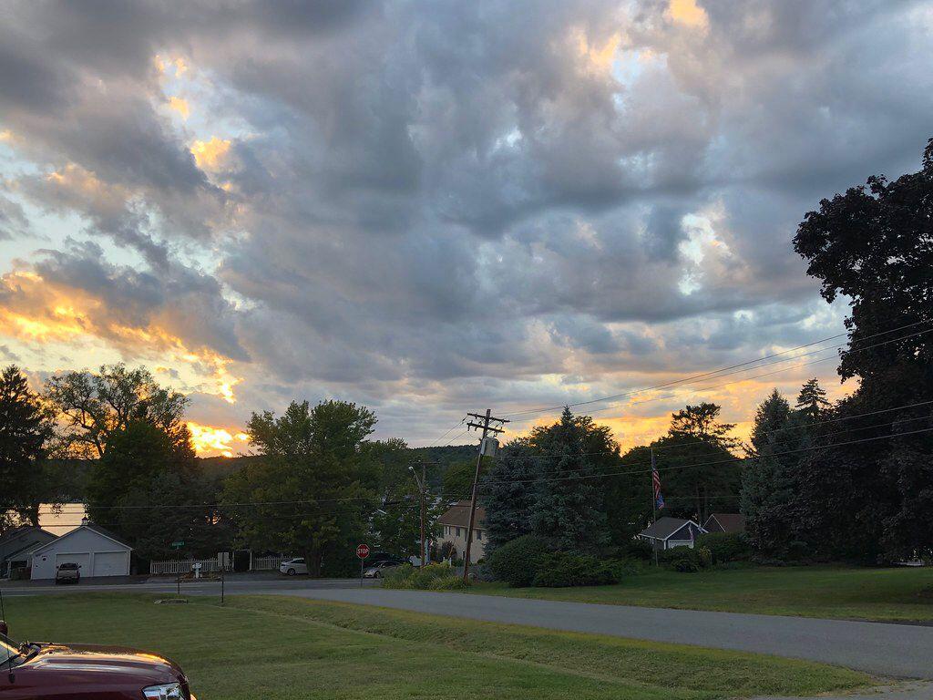 Sunset at Conesus Lake. Livonia, New York. Paul Chandler August 2020.