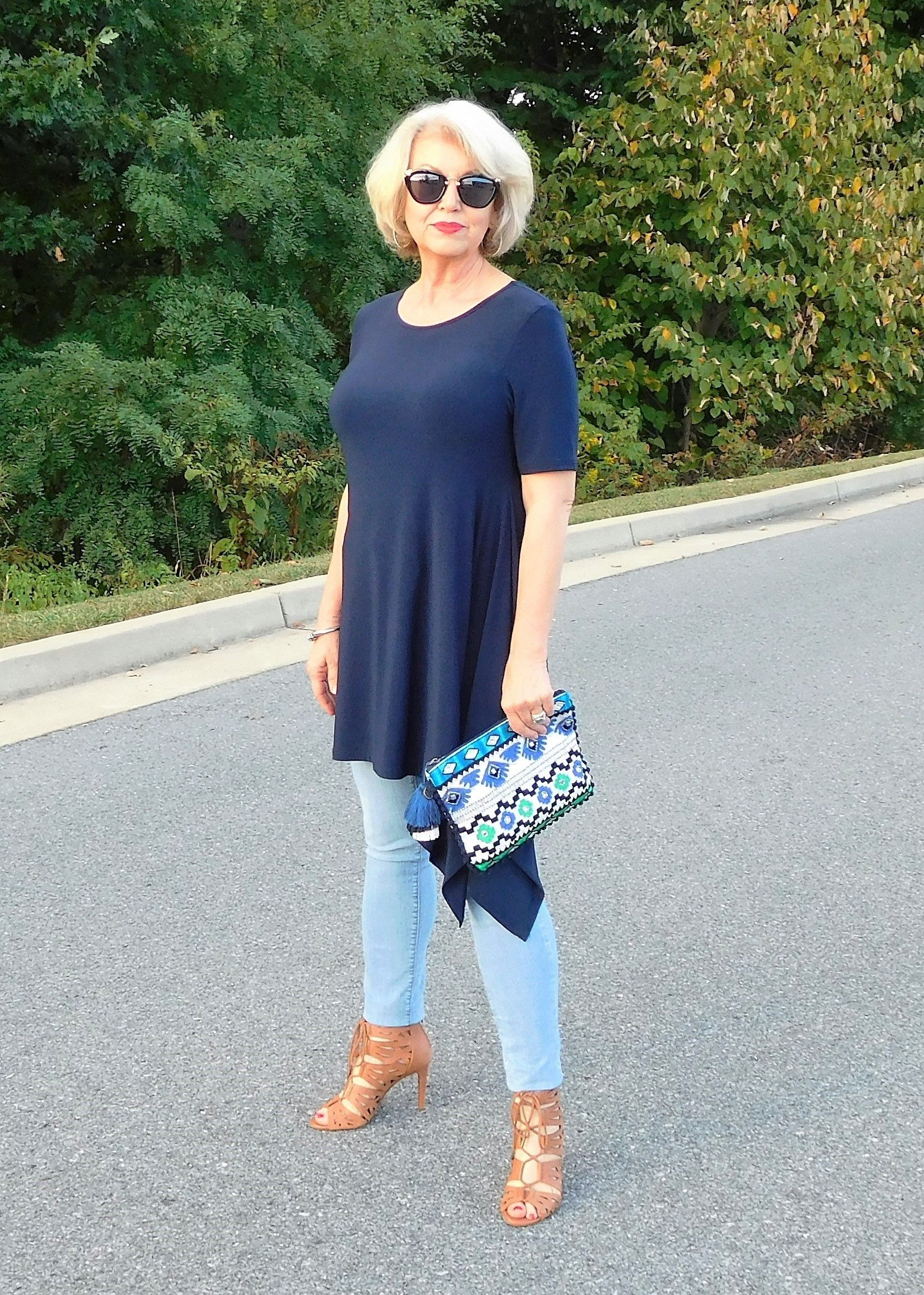How To Wear Skinny Jeans Or Jeggings  Fifty, Not Frumpy -8592