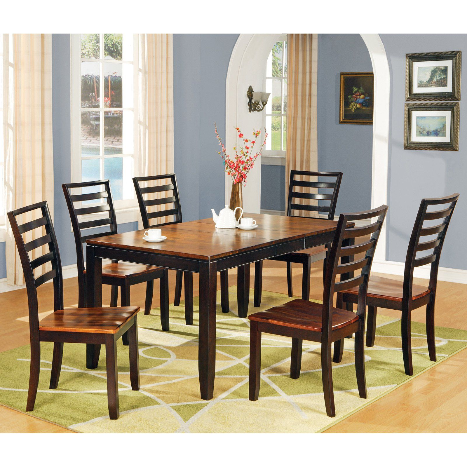 Steve Silver Abaco 7 Piece Dining Table Set Dining Room Sets