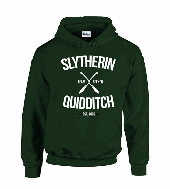 Slytherin Quidditch Team Wear Harry Potter Inspired Team Hoody Adults and Kids
