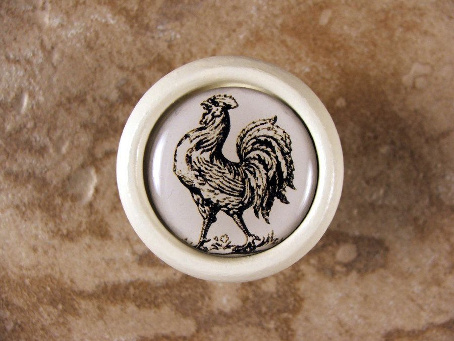 Beau Handmade Rooster Kitchen Decor Knob, Pull, Handle In Wood For Cabinet Door,  Furniture Drawer. $7.95, Via Etsy.