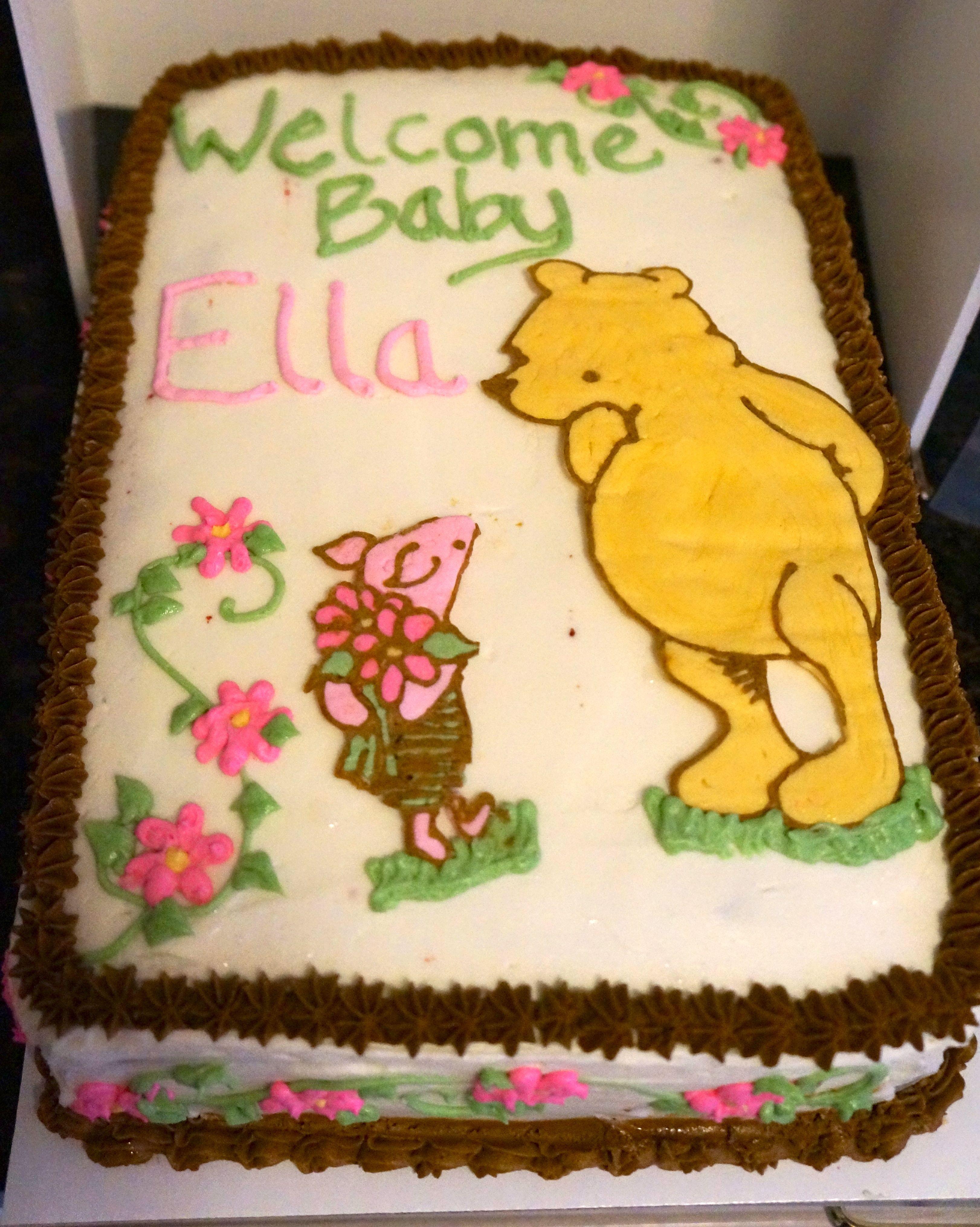 classic winnie the pooh baby shower cake baby shower pinterest
