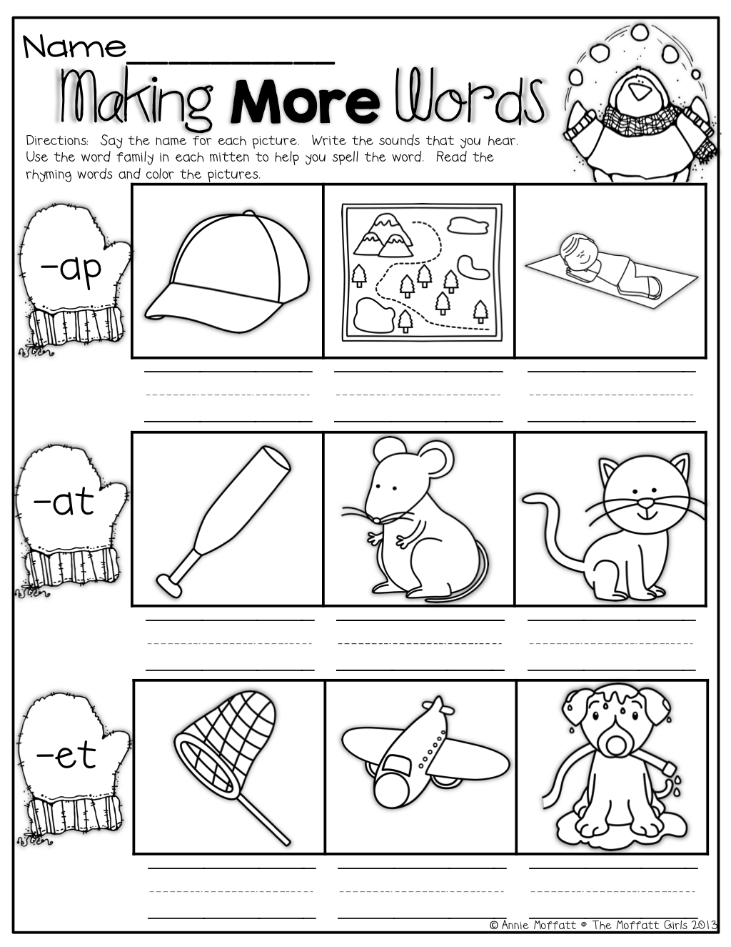 Winter Math And Literacy Packet Kindergarten