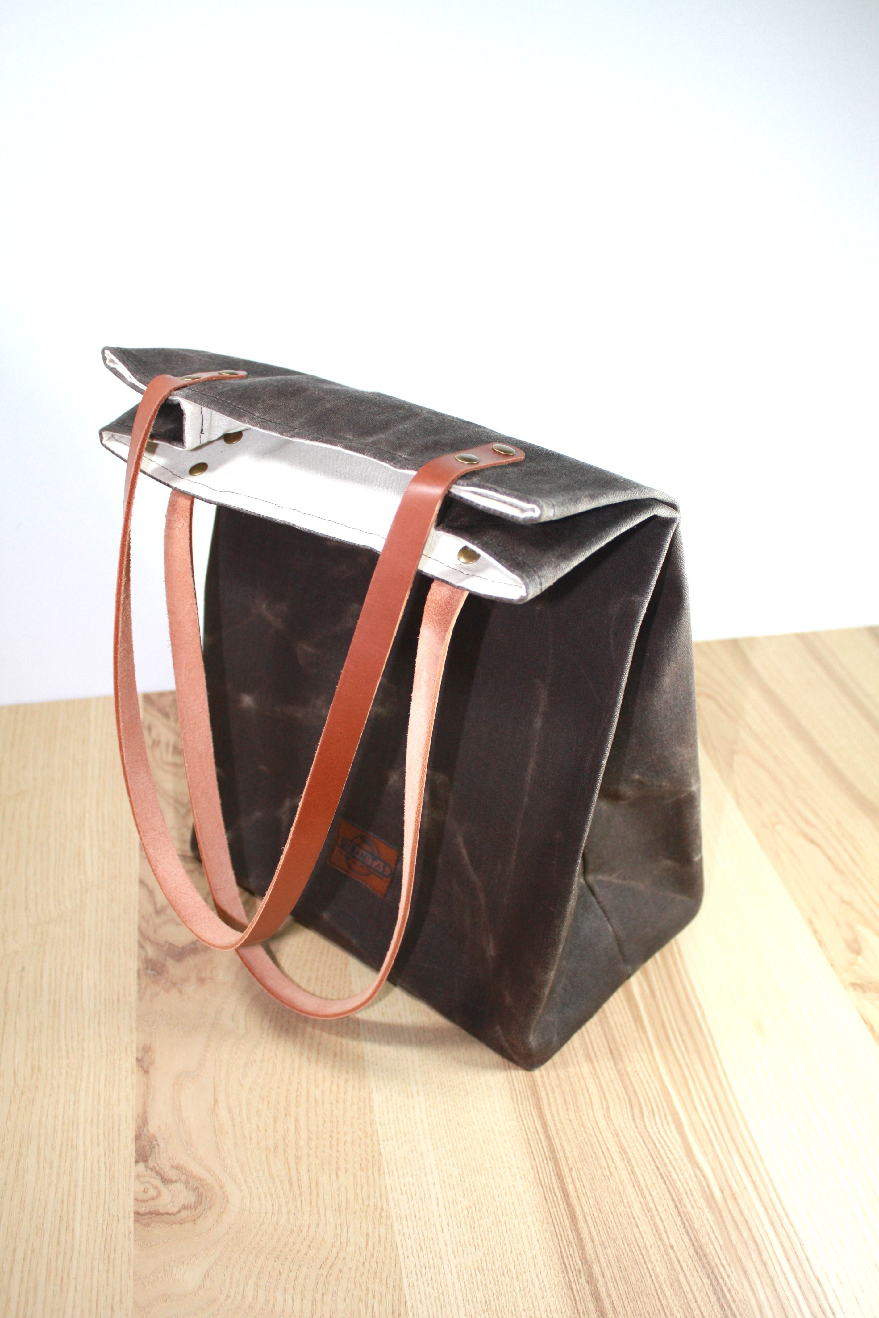 Lunch bags lunch bag tote lunch bag waxed canvas bolsa de etsy gumiabroncs Images