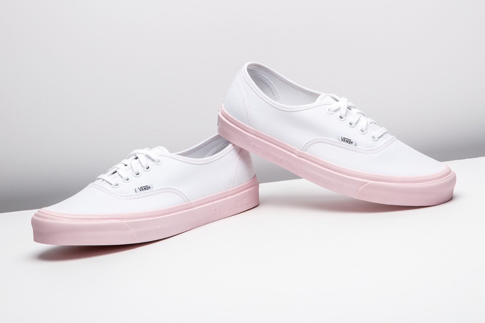 26c54b1ef46a A pastel pink sole gives the Anti Social Social Club x Vans Vault Authentic  a summery pop of color.