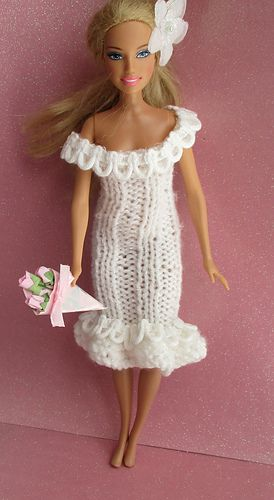 Glamour Dress For Barbie Pattern By Taffylass Knits Doll Clothes